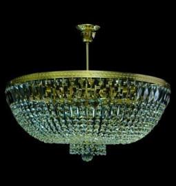 "люстра 10 рожковая хрусталь/золото ""royal bohemia"" d-60 см, h-50 см, вес-5,5 кг / 134696"